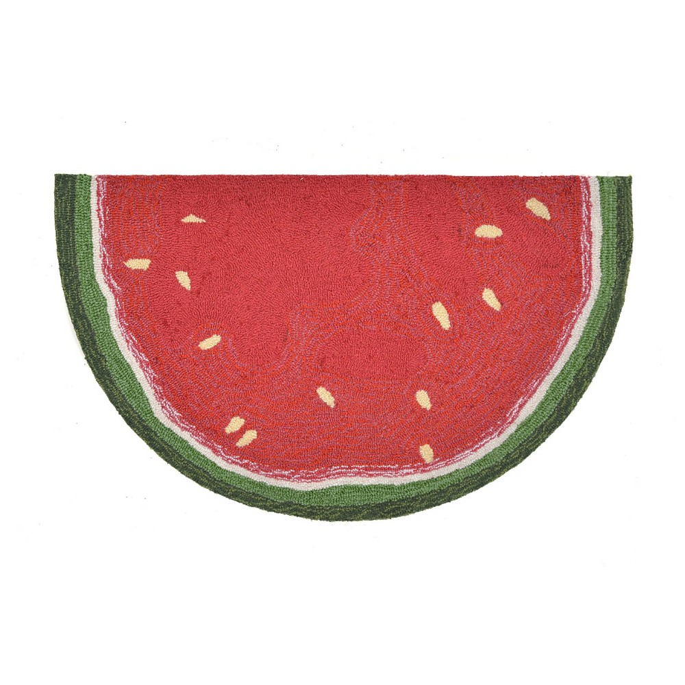Red Watermelon Slice Kitchen Rug (2'X3' Half-Circle) - Liora Manne