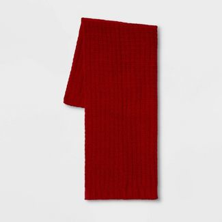 Solid Chenille Throw Blanket Red - Threshold™