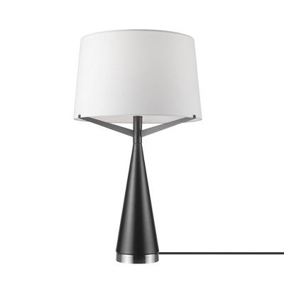 "24"" Levon Table Lamp with Linen Shade Dark Bronze - Globe Electric"