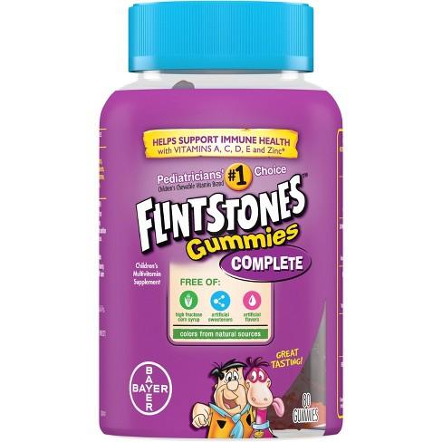 Flintstones Complete Multivitamin Dietary Supplement Gummies - Mixed Fruit - 80ct - image 1 of 4