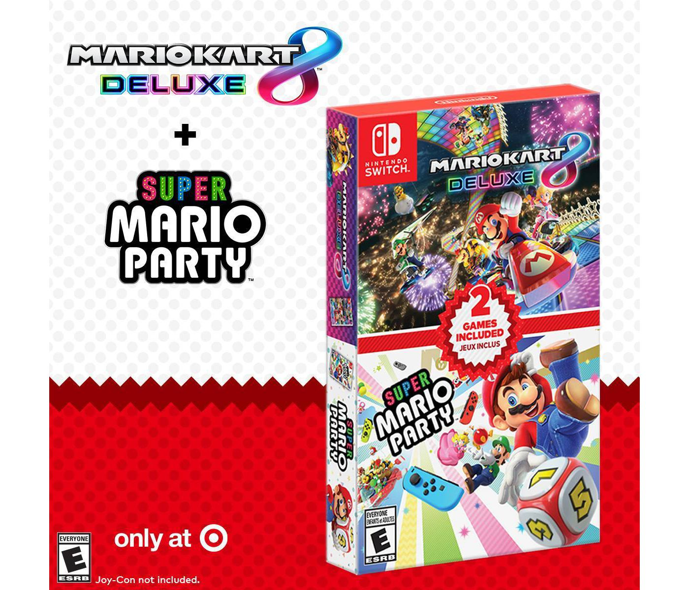 Mario Kart 8 Deluxe + Super Mario Party Double Pack for Nintendo Switch