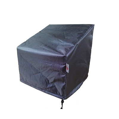 """Shield Gold Club 2-Layer Polyester Fabric Chair Wide Cover - 37x35x24/36"""" Charcoal Grey"""
