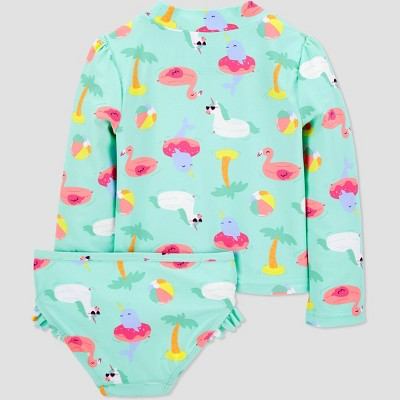 Toddler Girls' Pool Floatie Rash Guard Set - Just One You® made by carter's Aqua 18M