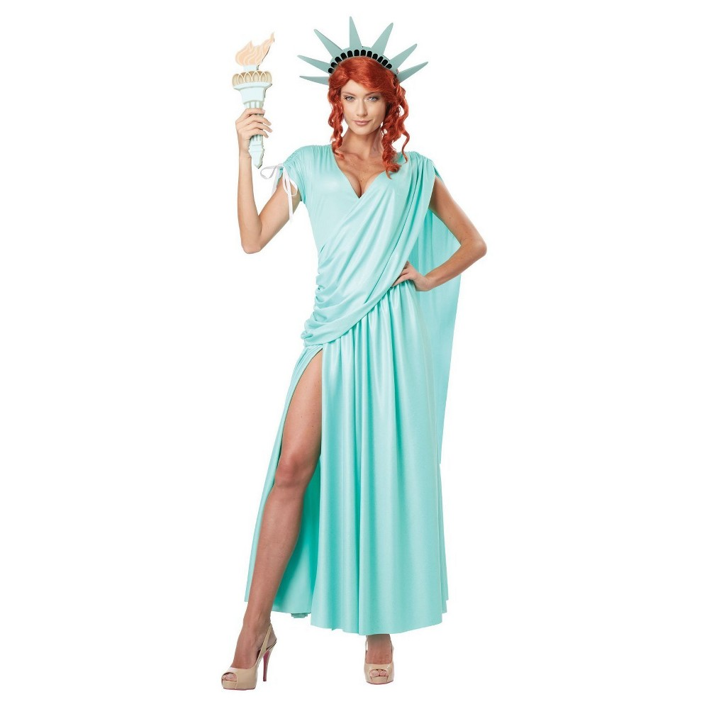 Women's Lady Liberty Adult Costume Large, Multicolored