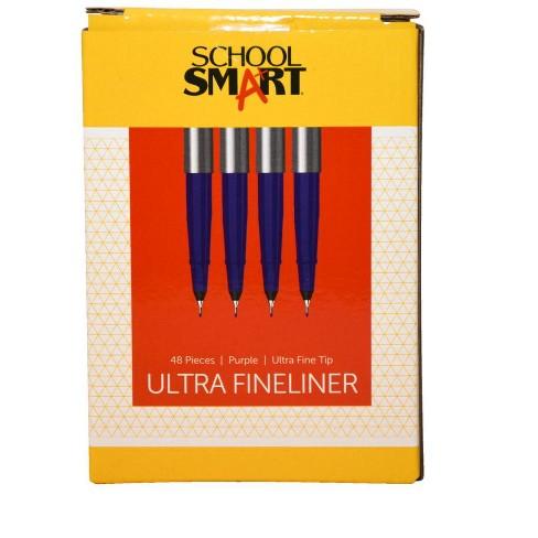 School Smart Ultra Fineliner Pen, 0.4 mm, Purple pk of 48 - image 1 of 3