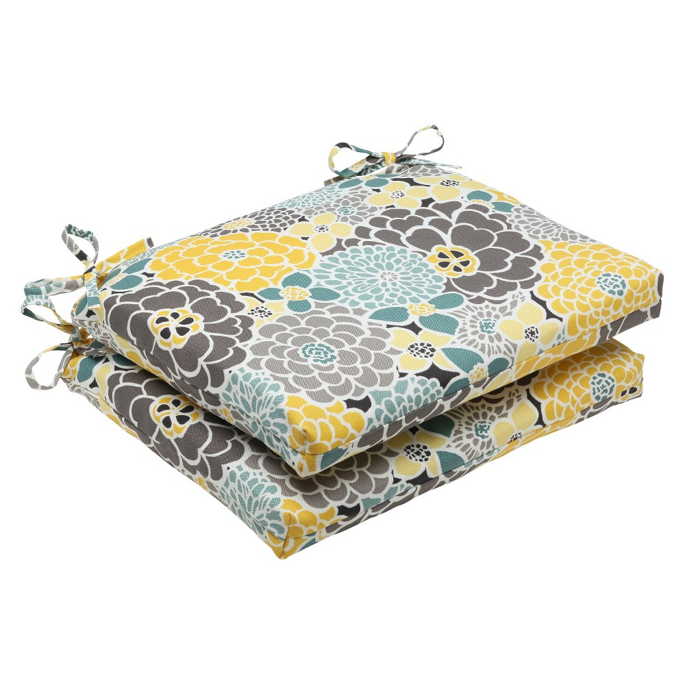 Pillow Perfect Outdoor Square Edge Seat Cushion - Lois