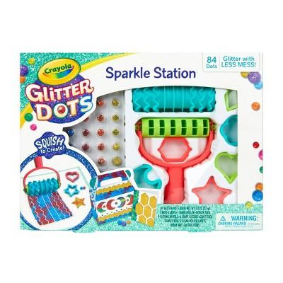 Crayola 106pc Glitter Dots Sparkle Station
