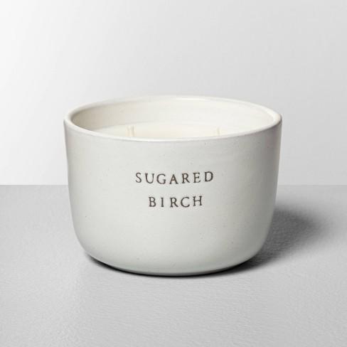 7.4oz Sugared Birch 2-Wick Ceramic Container Candle - Hearth & Hand™ with Magnolia - image 1 of 3