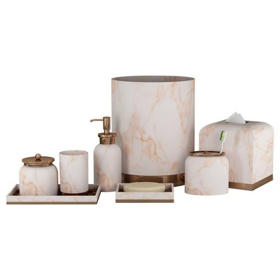 8pc Misty Bath Accessory Set for Vanity Counter Tops Copper - Nu Steel