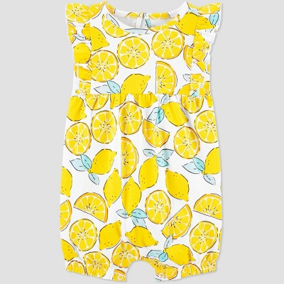 Baby Girls' One Piece Lemon Romper - Just One You® made by carter's Yellow 6M
