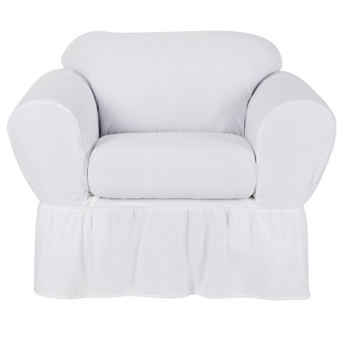 White Cotton Duck Chair Slipcover 2 Piece Simply Shabby Chic