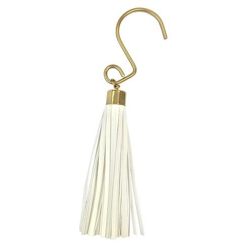Tassel Shower Hooks White