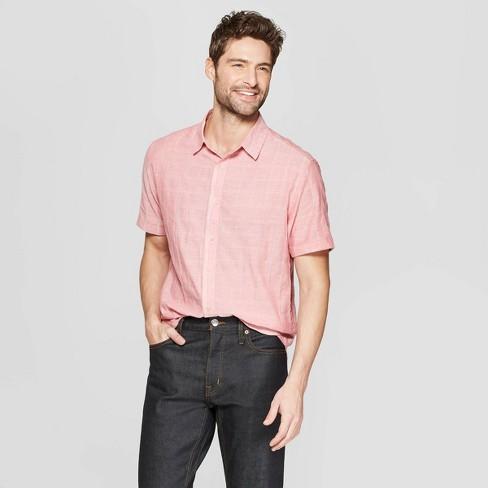 Men's Striped Short Sleeve Novelty Button-Down Shirt - Goodfellow & Co™ - image 1 of 3
