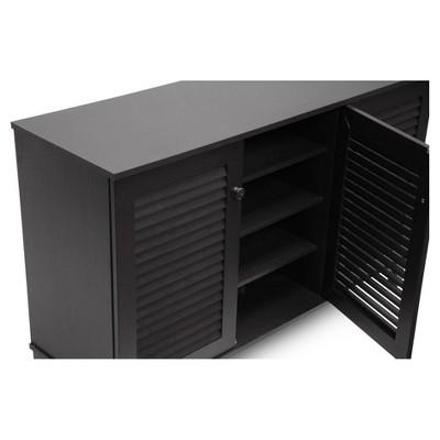 Warren Shoe - Storage Cabinet - Espresso - Baxton Studio : Target