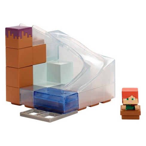 Minecraft Mini Figure Environment Waterfall Wonder Playset - image 1 of 3