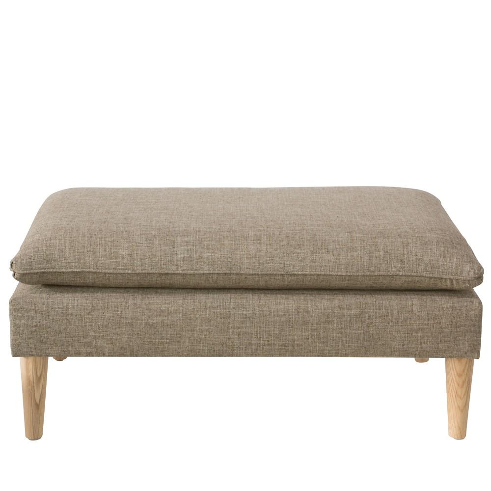 Amelia Pillowtop Bench - Zuma Linen - Skyline Furniture