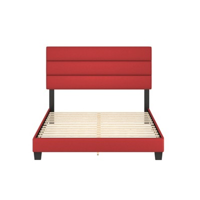 Luxembourg Faux Leather Channel Upholstered Platform Bed - Eco Dream