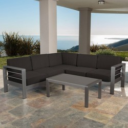 Cape Coral 4pc Aluminum Sofa Set - Christopher Knight Home