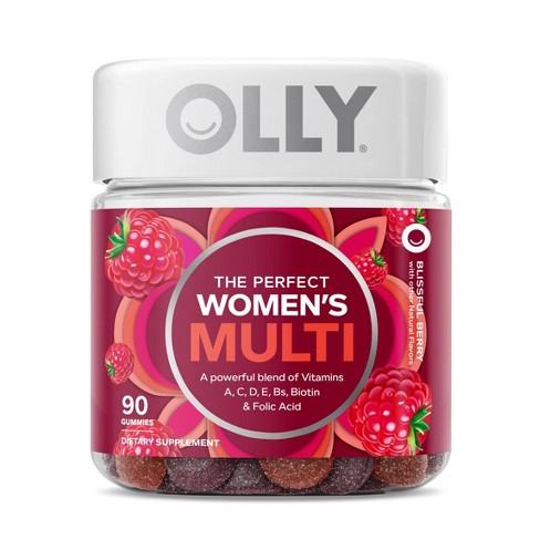 Olly The Perfect Women's Multi-Vitamin Blissful Dietary Supplement Gummies - Berry - 90ct - image 1 of 4