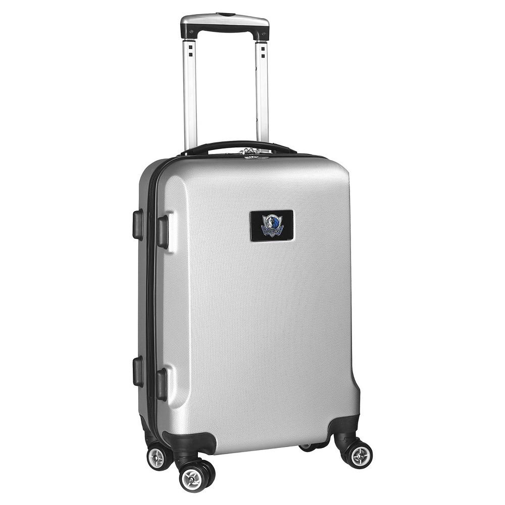 NBA Dallas Mavericks Mojo Hardcase Spinner Carry On Suitcase - Silver