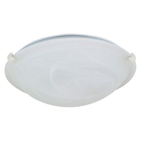 Aurora Lighting 2 Light Textured Flush Mount Ceiling Lights White - image 1 of 1