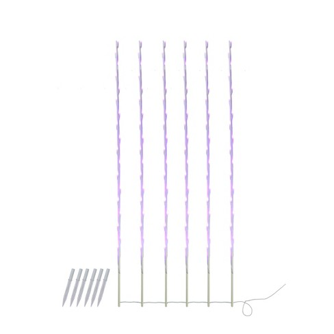 Northlight 108 Purple LED Lighted Branch Patio and Garden Novelty Christmas Light Stakes - 8.5 ft White Wire - image 1 of 1