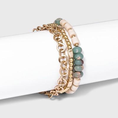 Semi-Precious Stretch and Adjustable Bracelet Set 3pc - Universal Thread™