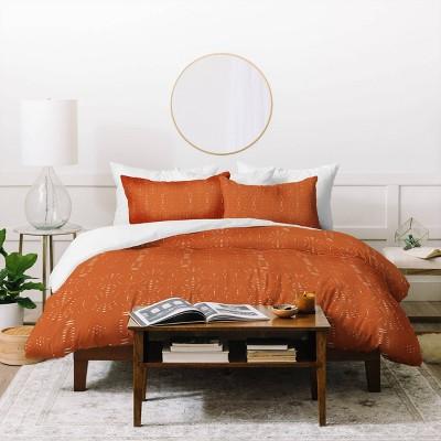 Grace Saona Pattern Terracota Duvet Set - Deny Designs