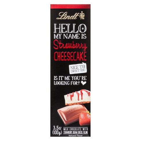 Lindt Hello My Name Is Strawberry Cheesecake Bar - 3.5oz - image 1 of 2