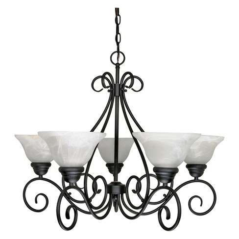 Aurora Lighting 5 Light Chandelier Textured Black - image 1 of 1