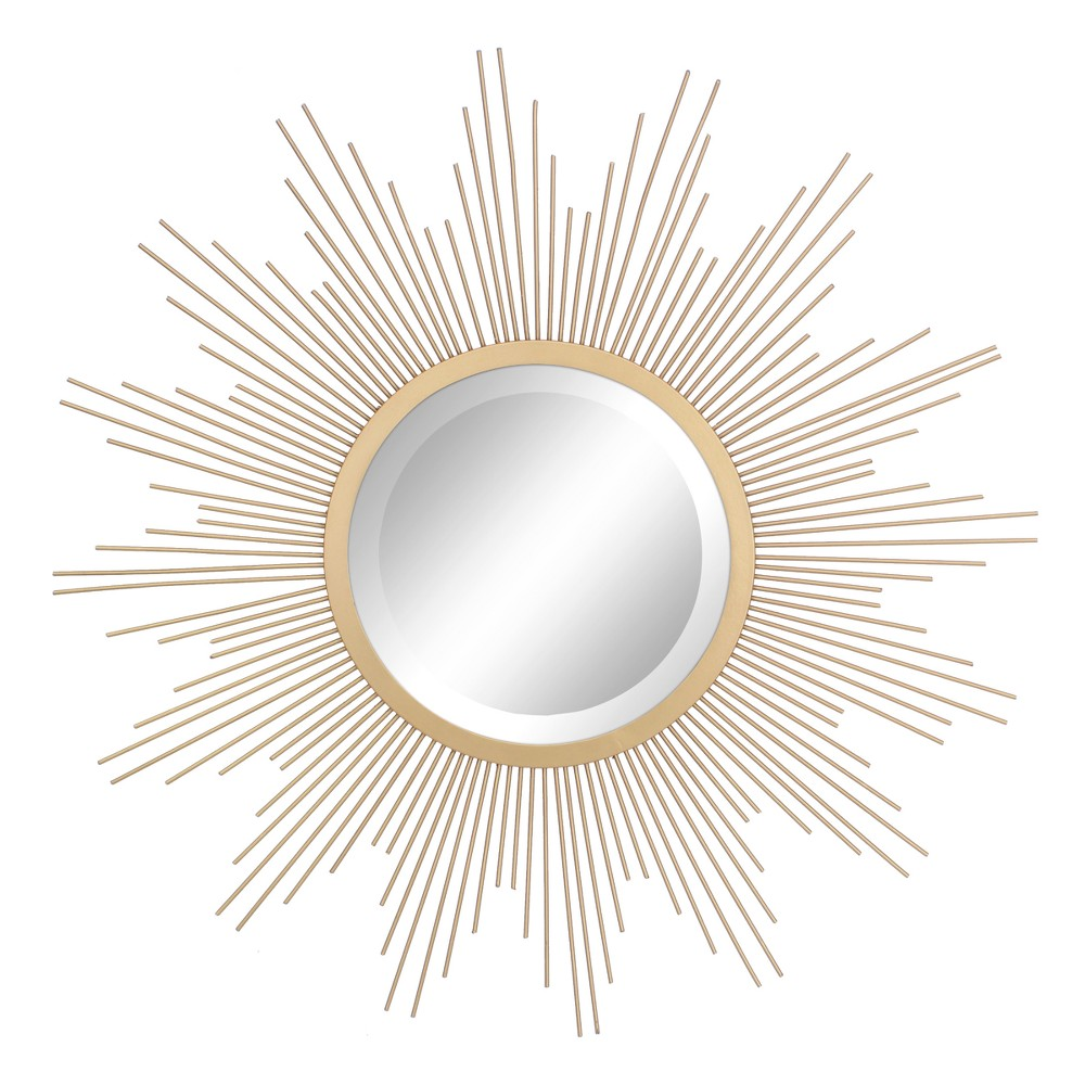 Image of Sunburst Mirror Gold 23 x 23 - Stonebriar Collection