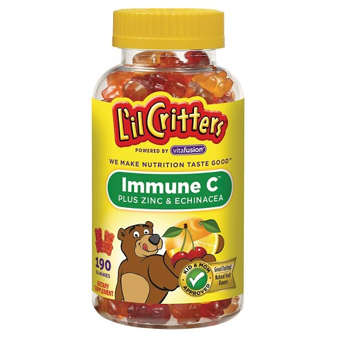 L'il Critters™ Immune C Plus Zinc and Echinacea Dietary Supplement Gummies - image 1 of 4