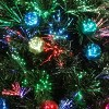 32in LED Fiber Optic Fireworks Slim Tree with Ball Ornaments - National Tree Company - image 3 of 3