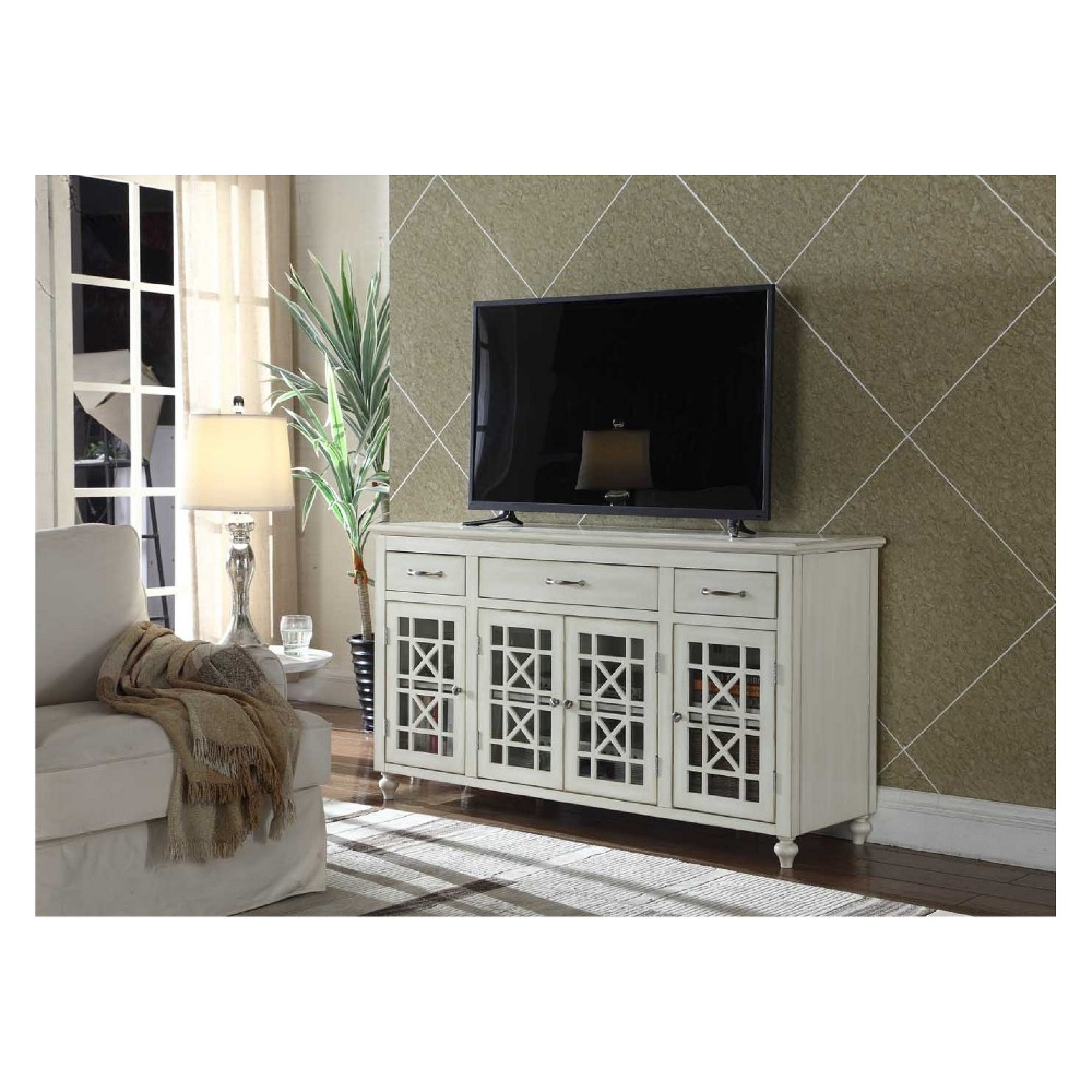 Ladera 60 TV Stand Buffet Table White - Crawford & Burke