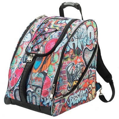 Athalon Everything Travel Ready Camping and Hiking Boot Bag Backpack, Grafitti