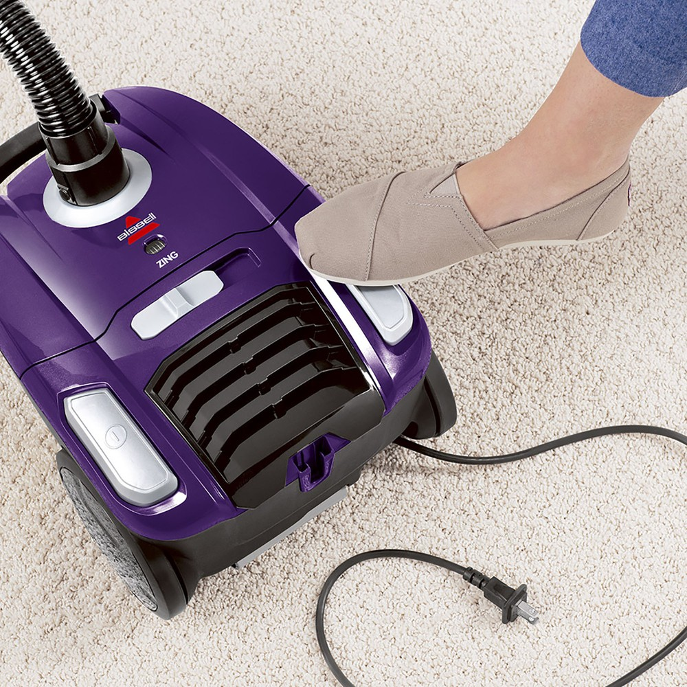 Bissell Zing Bagged Canister Vacuum - 2154A, Purple