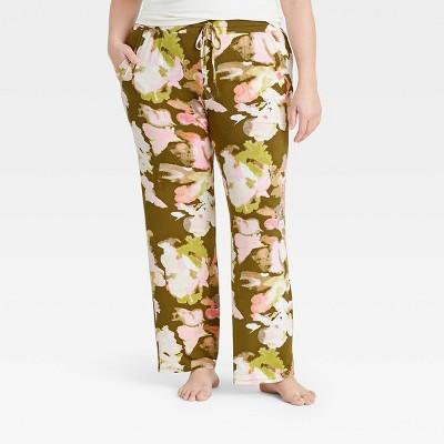 Women's Floral Print Beautifully Soft Pajama Pants - Stars Above™ Green