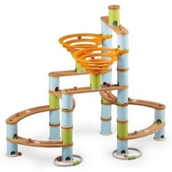 Fat Brain Toys Bamboo Builder Marble Run - 168pc