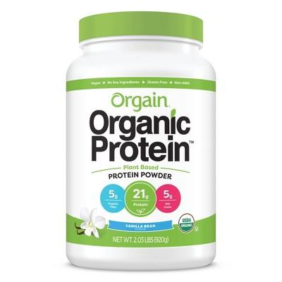 Orgain Organic Vegan Protein Plant-Based Protein Powder - Sweet Vanilla Bean - 2.03lbs