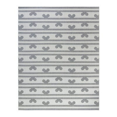 Mickey Mouse & Friends Peek A Boo Outdoor Rug Gray