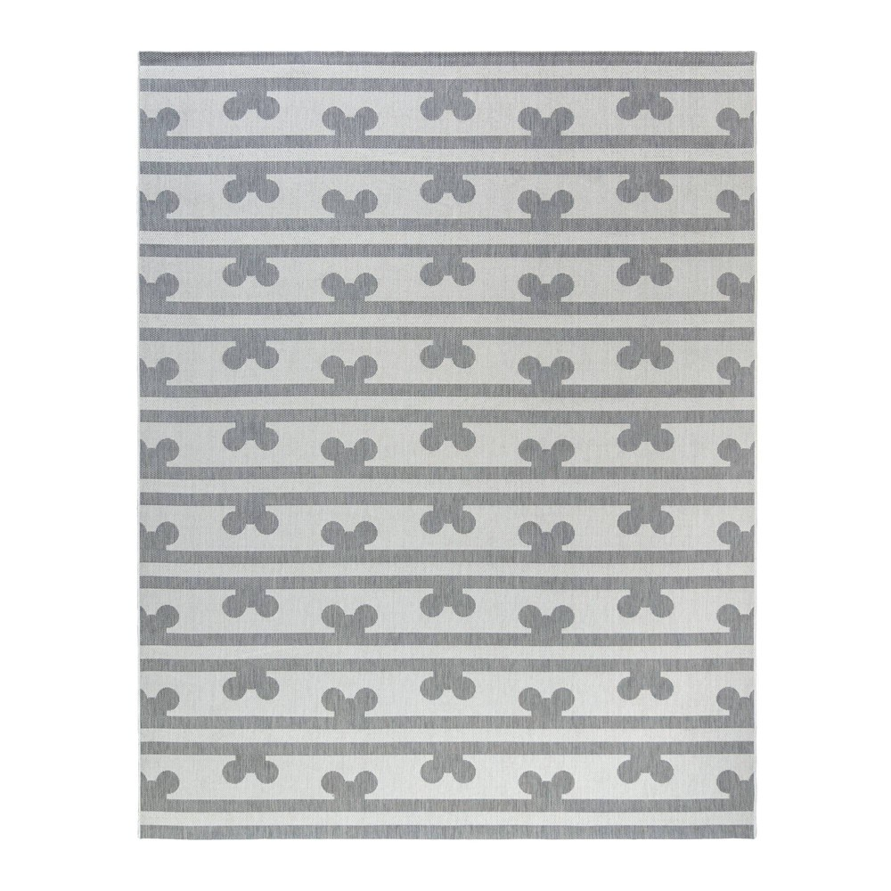 Image of 5'x7' Mickey Mouse & Friends Peek A Boo Outdoor Rug Gray
