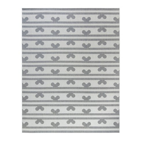 Mickey Mouse & Friends Peek A Boo Outdoor Rug Gray - image 1 of 3
