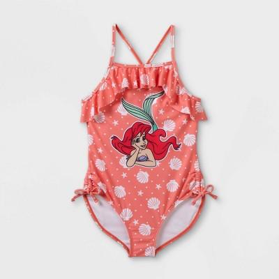 Girls' Disney Princess Ariel One Piece Swimsuit - Pink