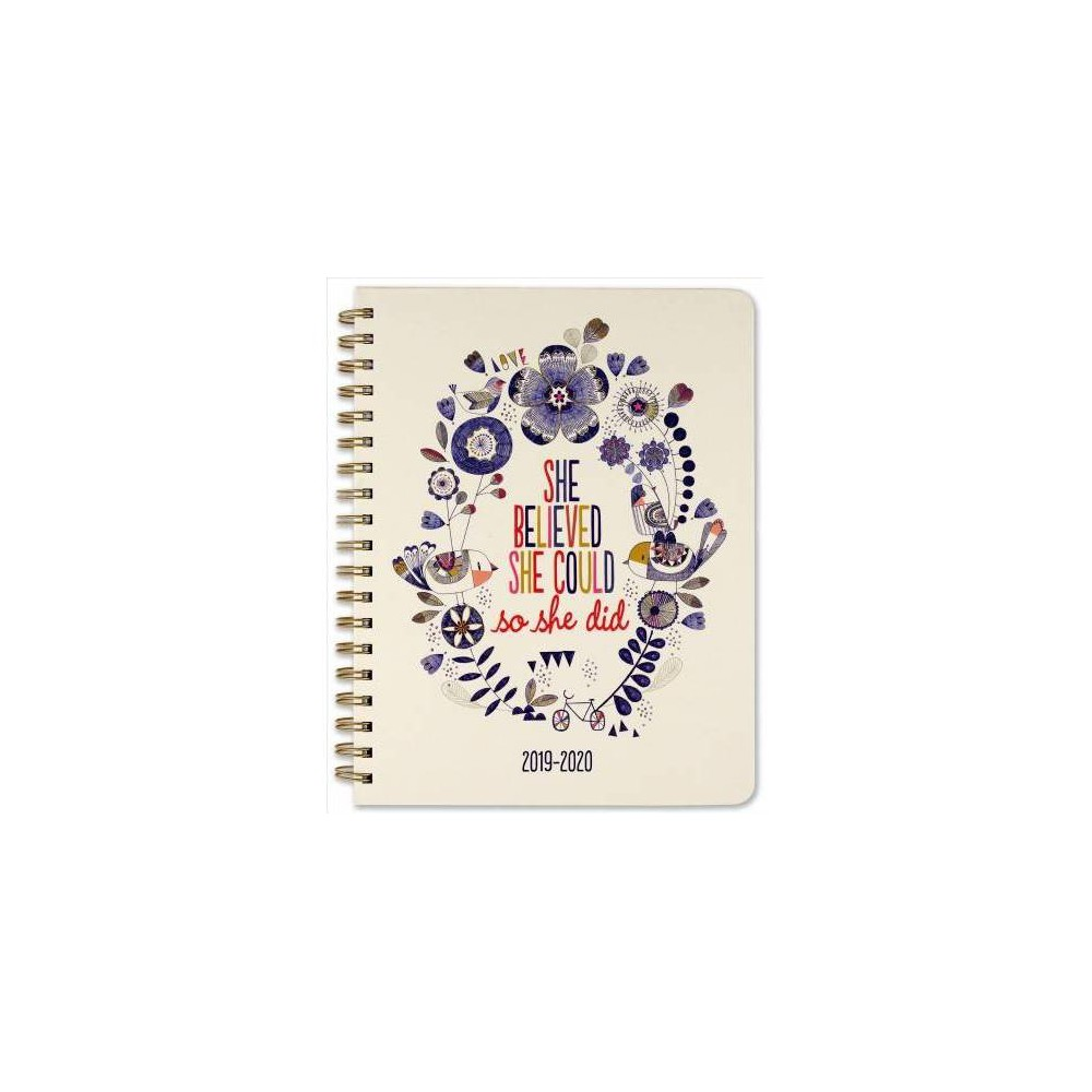 She Believed She Could Mom's Weekly 2020 Planner - (Hardcover)