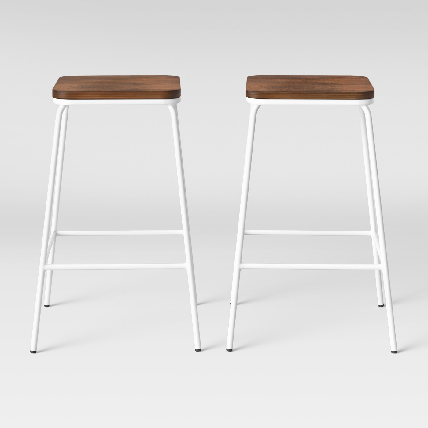 Set of 2 Rhodes Metal/Wood Counter Stool White - Project 62™ - image 1 of 4