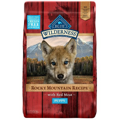 Blue Buffalo Wilderness Grain Free Rocky Mountain Recipe with Red Meat Puppy Dry Dog Food