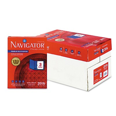 Navigator Premium Multipurpose Paper 97 Brightness 3-Hole Punch 20lb Ltr WE 5000/Ctn NMP113HP