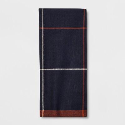 Plaid Kitchen Towel Navy - Threshold™