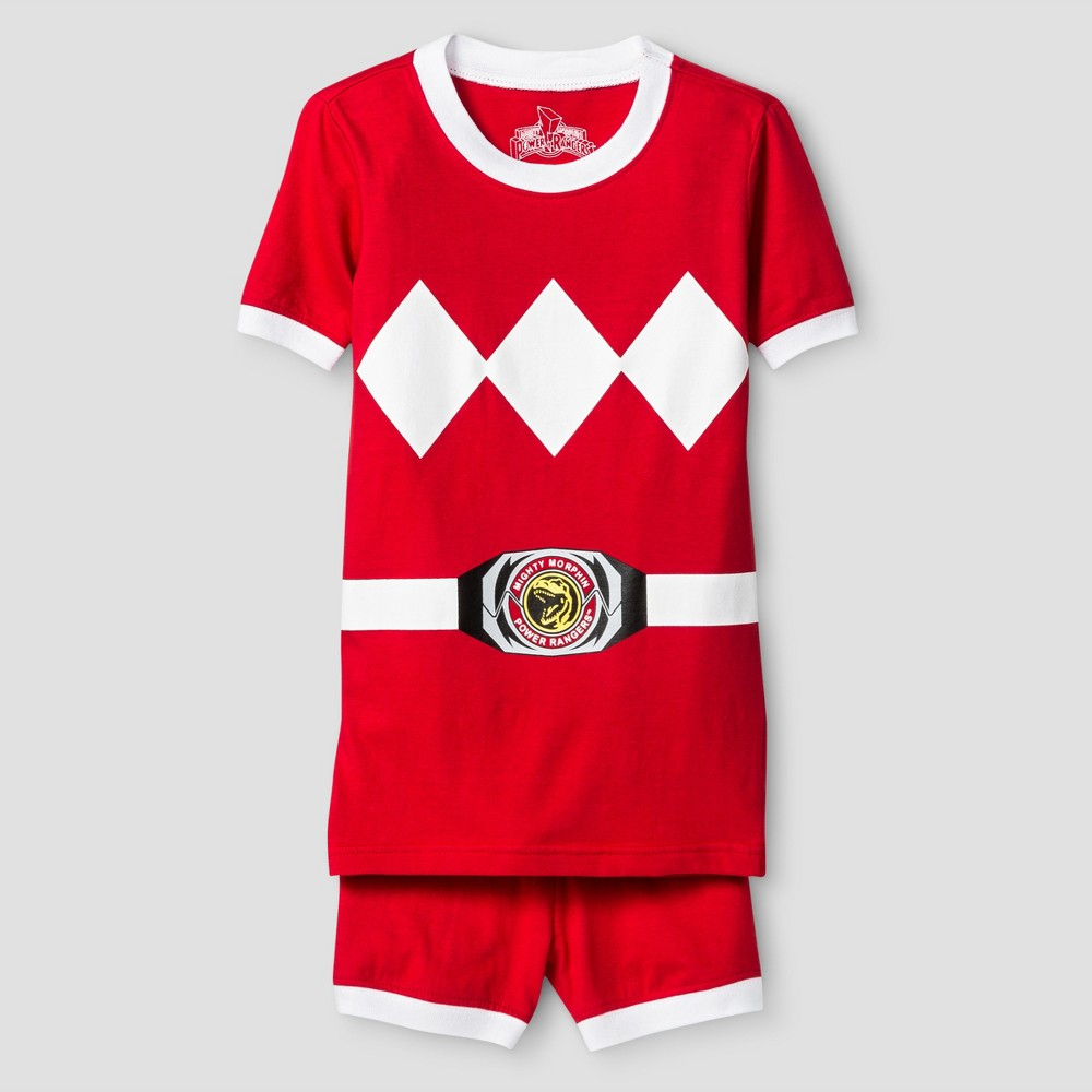 Boys' Power Rangers 2 Piece Pajama Set - Red M, Size: 8