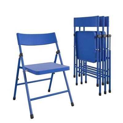 4pk Kids' Children's Pinch Free Folding Chair Blue - Room & Joy